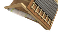 roof wood wooden 3d model