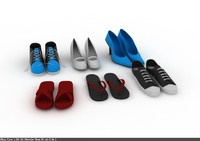 3d model footwear foot wear