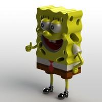 3ds sldprt plastic toys sponge bob