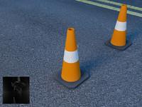 maya traffic cone