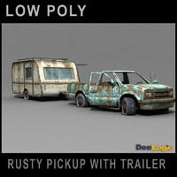 rusty trailer scene 3d