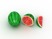 3d watermelon fruit