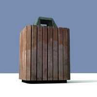 3d model of waste bin