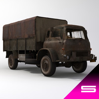3d old army truck