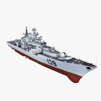 destroyer navy 3d model