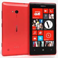 nokia lumia 720 red 3d model