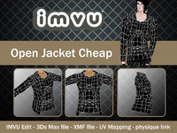 jacket open 3d 3ds