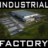 industrial building complex full scene Render Redy to use as: Factory, Warehouse, Workshop, Stock, Storage facility, etc.