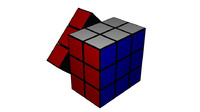 3ds model rubiks cube