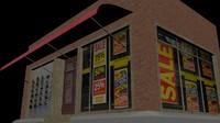 Street shop building