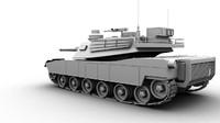 3d model a1 abrams tank