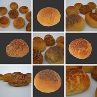 4 bread 3d obj