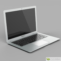 3d model macbook air apple