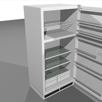 Refrigerator With Opening Doors