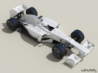 generic f1 race car 3d max