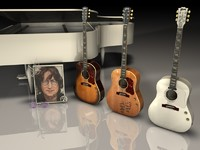 3d model acoustic gibson john lennon