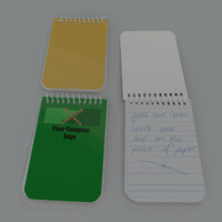 small spiral bound note pad