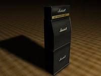 3d model marshall stack amp