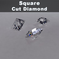 3ds square cut diamond