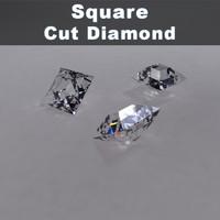 3ds square cut diamond