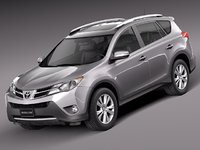 2013 toyota rav4 suv 3d model