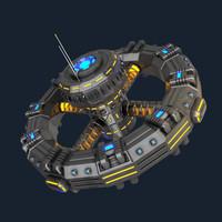Sci-fi orbital station