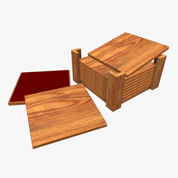 wooden coasters fbx