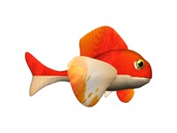 cartoon fish fishy 3d model