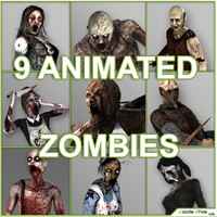 Low Poly Zombies Animated