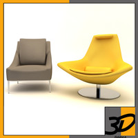 3d model metropolitan armchair chair