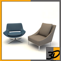 metropolitan armchair chair 3d model