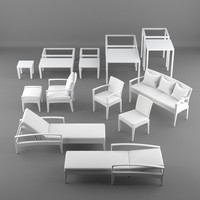 lounge furniture 3d model