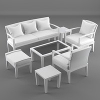 lounge furniture panama 3d model