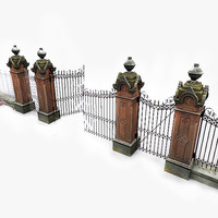 photorealistic park gates photo 3d 3ds
