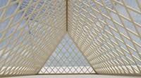 3d model pyramid hall
