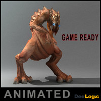 reptiloid monster animations max