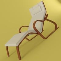 3d model lounge beach pool