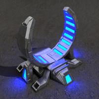 Portal sci-fi building