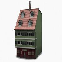 house facade b 3d ma
