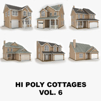 Hi-poly cottages collection vol.6
