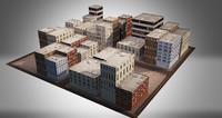 3d building city - model