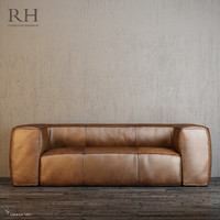 3ds max fulham leather sofa