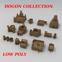 adobe dogon buildings 3d 3ds