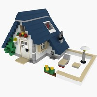 3d model house lego set