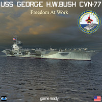 3d model uss george h w bush