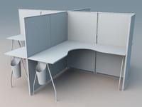 desk b 3d model