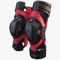 motocross knee brace 2 3d max