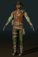 hunter character 3d 3ds