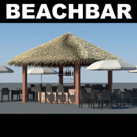 beachbar bar 3d model
