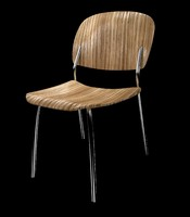3ds max zebra chair wood